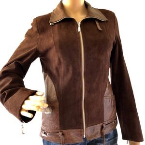 Incredibly cool brown leather European jacket